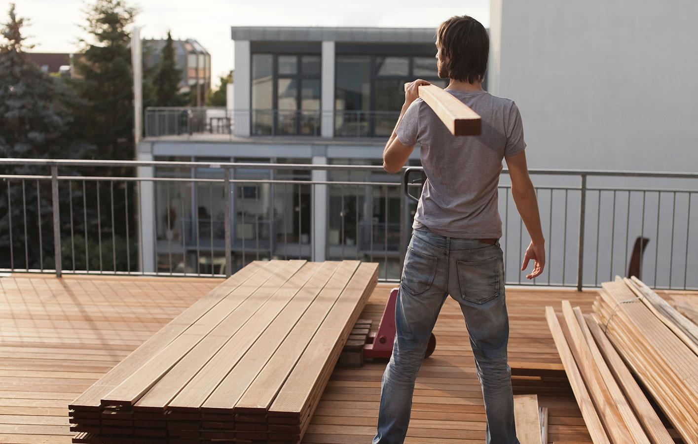 Terrassendielen Holzdecks Bangkirai Wpc Enschede Munster Borken